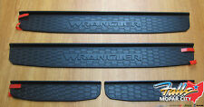 2018 - 2021 Jeep Wrangler Jl Black Plastic Front & Rear Door Sill Guards Oem