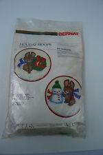 Bernat Christmas Holiday Hoops Merry Bunnies #W09282 - NIP
