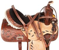 Classic Cowboy 16 17 18 Western Barrel Pleasure Trail Show Horse Saddle Tack Set