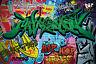 GREAT ART Graffitti Wanddekoration - Wandbild Street Art Motiv XXL Poster