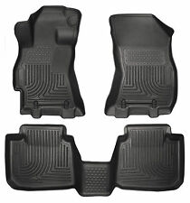 2015 - 2018 Subaru Legacy/Outback Floor Mats Black Husky Liners WeatherBEATER