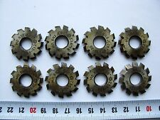Involute Gear Cutter Set M0.6 20° HSS #1-8 Spline Modulfräser Zahnradfräser USSR