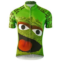 OSCAR THE GROUCH Team Cycling Jersey Retro Road Pro Clothing MTB Short Sleeve