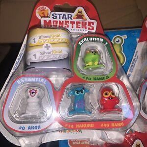 Star Monsters Pocket Friends 6 X Set 6pcs Figures 6 Boxes 36 Figures Series 1