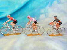 3 figurines de cyclistes en aluminium COFALU - SALZA ? Lot 11 (ref V28)