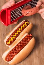 Slotdog Hot Dog Grilling & Slicing Tool - Say goodbye to boring hot dogs!