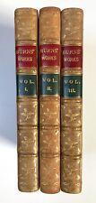 POETICAL WORKS OF ROBERT BURNS Chronologically Arranged (Hardback c.1885) 3 vols