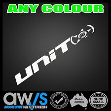 UNIT MX Sticker Decal Banner 550mm LARGE FOR / Car ute window wall motocross