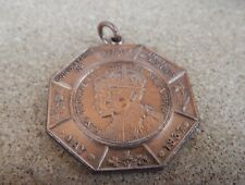 Society of Miniature Rifle Clubs 1937 Coronation Competition Medal bronze metal