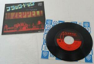 """LED ZEPPELIN BLACK DOG JAPANESE PRESS ATLANTIC 7"""" issued 1976 w/insert & co bag"""