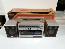 New in Box AIWA Ca-30 1984 Vintage Rétro Ghetto Blaster Boom Box Radio Cassette
