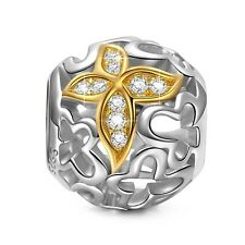 """Butterfly Princess"""" 925 Sterling Silver Gold Plated Hollow Charms Pandora"""