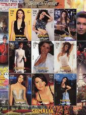 Somalia 2002 MNH Shania Twain 9v M/S Pop Music Celebrities Stamps