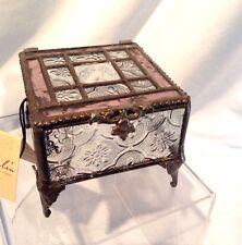 """J. Devlin Glass Box Vintage & Pale Rose w/Legs 3 1/8 """" x 3 1/2"""" x 2 1/2""""  $36.99"""