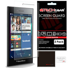 3 Pack of TECHGEAR CLEAR Screen Protector Guards For Blackberry Leap