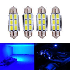 A1 AUTO 4x 3423 36mm Festoon Canbus LED Blub Bright License Plate Light, Blue