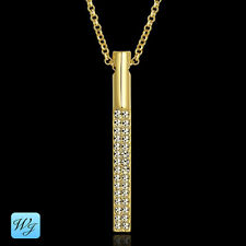 Real Genuine Ladies Girls Simulated Diamond Necklace 18k Gold Filled S/F Gift