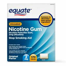 Equate Stop Smoking Aid Nicotine Gum - 170 Pieces, 2 mg EXP 03/2022