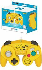 GAMECUBE HORI CLASSIC CONTROLLER PIKACHU PAD POKEMON NINTENDO Wii U