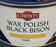 Liberon Negro bisonte cera Pasta Polaco Clear 500ml