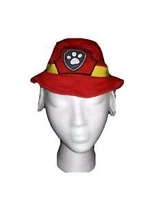 Paw Patrol Marshall Newborn Red Cotton Bucket Sun Hat Cap with Ears Nickelodeon