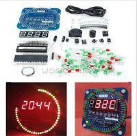 DS1302 Electronic Clock 51 MCU Learning Board Rotating LED Clock Kit /Assembled