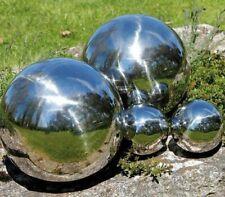 Dekokugeln silber Schwimmkugel Gartenkugel aus Edelstahl 4er Set glänzend LEX