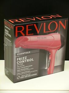 REVLON Essentials IONIC FRIZZ CONTROL STYLER 1875 Watts Fast Dry 40% Lighter NEW