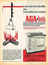 PUBLICITE ADVERTISING 104  1956  AGA   cuisinière à bois