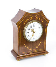 Antique Edwardian Inlaid Mahogany Mantel Clock c.1890