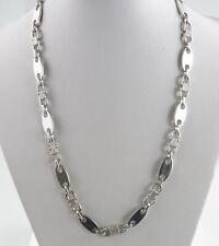 Elegante Kette aus Silberplättchen Bis zu 150cm Halskette aus 925er Silber