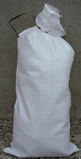 White Woven Polypropylene Sand Bags Empty Heavy Duty (Flood Sacks) 20x Bags Pack