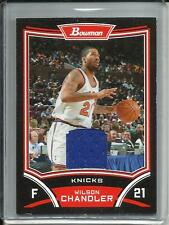 Wilson Chandler 08/09 Bowman Game Used Jersey