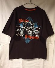 """90's Mecca 13 Since Day One Brown """"Reign Supreme""""  Rubber Graphics T-Shirt Sz M"""