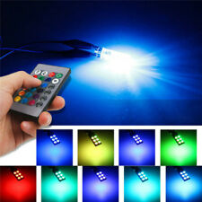 T10 W5W 5050 6SMD RGB LED 2 PCS Multi Color Light Car Wedge Bulbs Remote Control