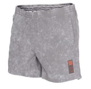 adidas Saturday HD 7 Inch Mens Running Shorts Grey Stone Wash Infrared Sz Large