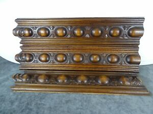 Antique French Fronts Panel Furniture, Molding Walnut Wood Hand Carved  3 pieces