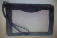 COACH WRISTLET IN GIFT BOX BROWN BLACK PLATINUM PURSE SMALL BRAND NEW F22713