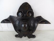 Antique French Carved Wood Pediment Crest Medallion Napoleon III