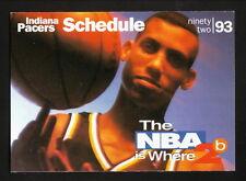 Reggie Miller--Indiana Pacers--1992-93 Pocket Schedule--Prime Sports Network