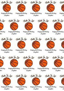 A2 Basketball Theme print Wrapping Paper And Gift Tags, Birthday