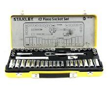 Stanley 42-PIECE METRIC & AF SOCKET SET Heat Treated Rust Resistant *USA Brand