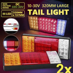 2X 88 LED Tail Lights Trailer Ute Caravan Truck Stop Indicator rear LAMP 12V 24V