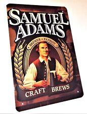 SAMUEL ADAMS BEER LAGER METAL TIN SIGNS vintage pub bar garage decor kitchen