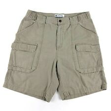 Men's Columbia Cargo Khaki Shorts Sz S Hiking Outdoor