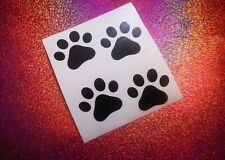 4x Paws dog lover cool car window bumper  vinyl sticker/decal