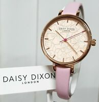 New DAISY DIXON Watch Pale Pink Leather strap IDEAL GIFT for Her ! RRP £79! (DX1