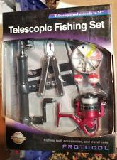 "PROTOCOL-Telescopic-Fishing-Set-Extendable-54"" rod / nib"