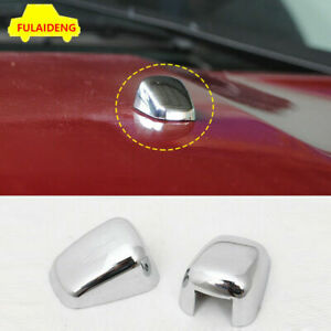 2PC For Jeep Grand Cherokee Compass Patriot Front Wiper Water Spray Nozzle Cover