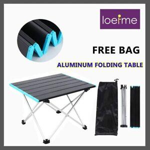 Camping Table Folding Portable Aluminium Outdoor BBQ Desk Picnic Tab 56*40*41CM